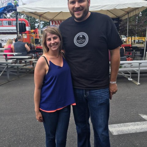 Kristin Stockton with Morgan Alexander at BG Harvest Days