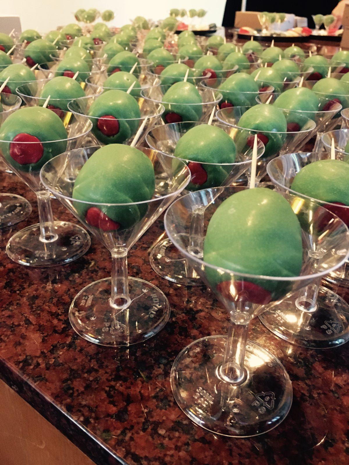 Analog Devices Holiday Party 2017 Olive Cake Pops